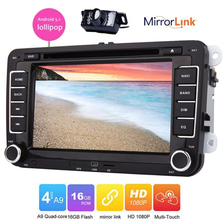 Eincar Car DVD player Android 5.1 lollipop for VW Golf 5 6 Polo Passat CC Jetta Tiguan Touran EOS Sharan Scirocco Caddy built-in GPS navigation Radio bluetooth wifi mirror link canbus capacitive (Best Golf Caddy App Android)