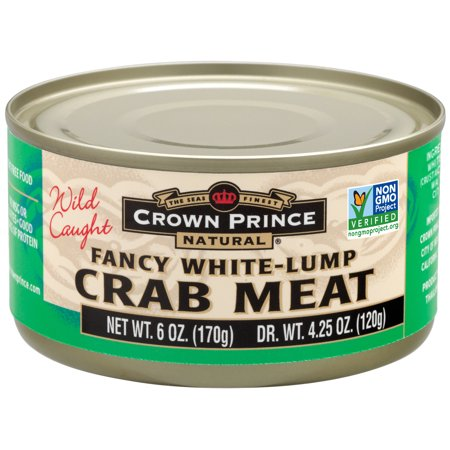 Crown Prince Natural Fancy White Lump Crab Meat, 6 oz (2 Packs)