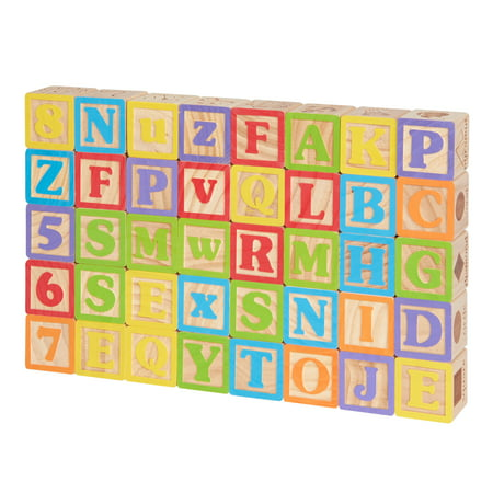 Alphabet Newborn Baby Blocks (Spark. Create. Imagine. Wooden Alphabet Blocks, 40 Pieces)