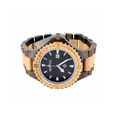 Collection Analog (Maple Sandalwood Watch Date Function Round Face Analog Wooden)