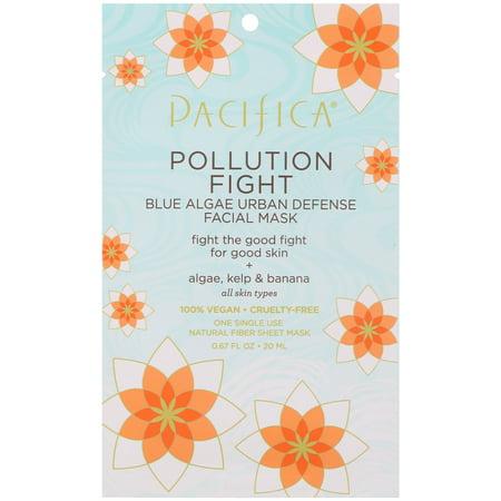 Pacifica  Pollution Fight  Blue Algae Urban Defense Facial Mask  1 Mask  0 67 fl oz  20 ml ()
