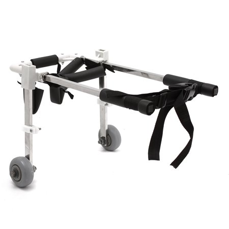 Adjustable Dog Pet Wheelchair Mobility Extra 2 Wheel Hind Legs