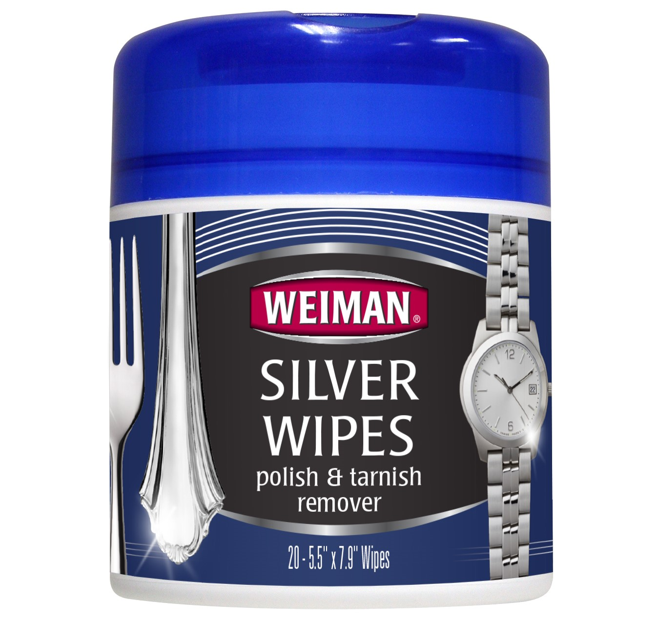 Weiman Silver Wipes Polish & Tarnish Remover, 20 Ct