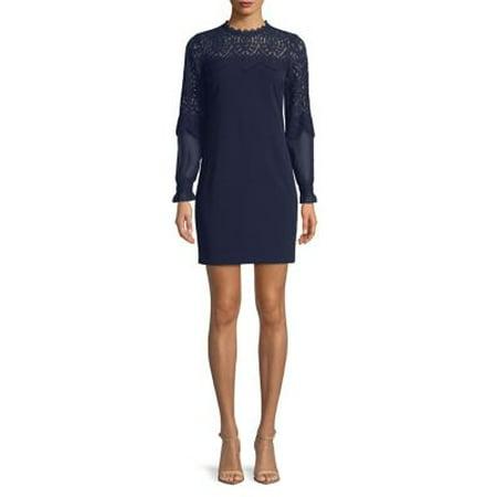 4c44f475f9 Kensie - Floral Lace Sheath Dress - Walmart.com