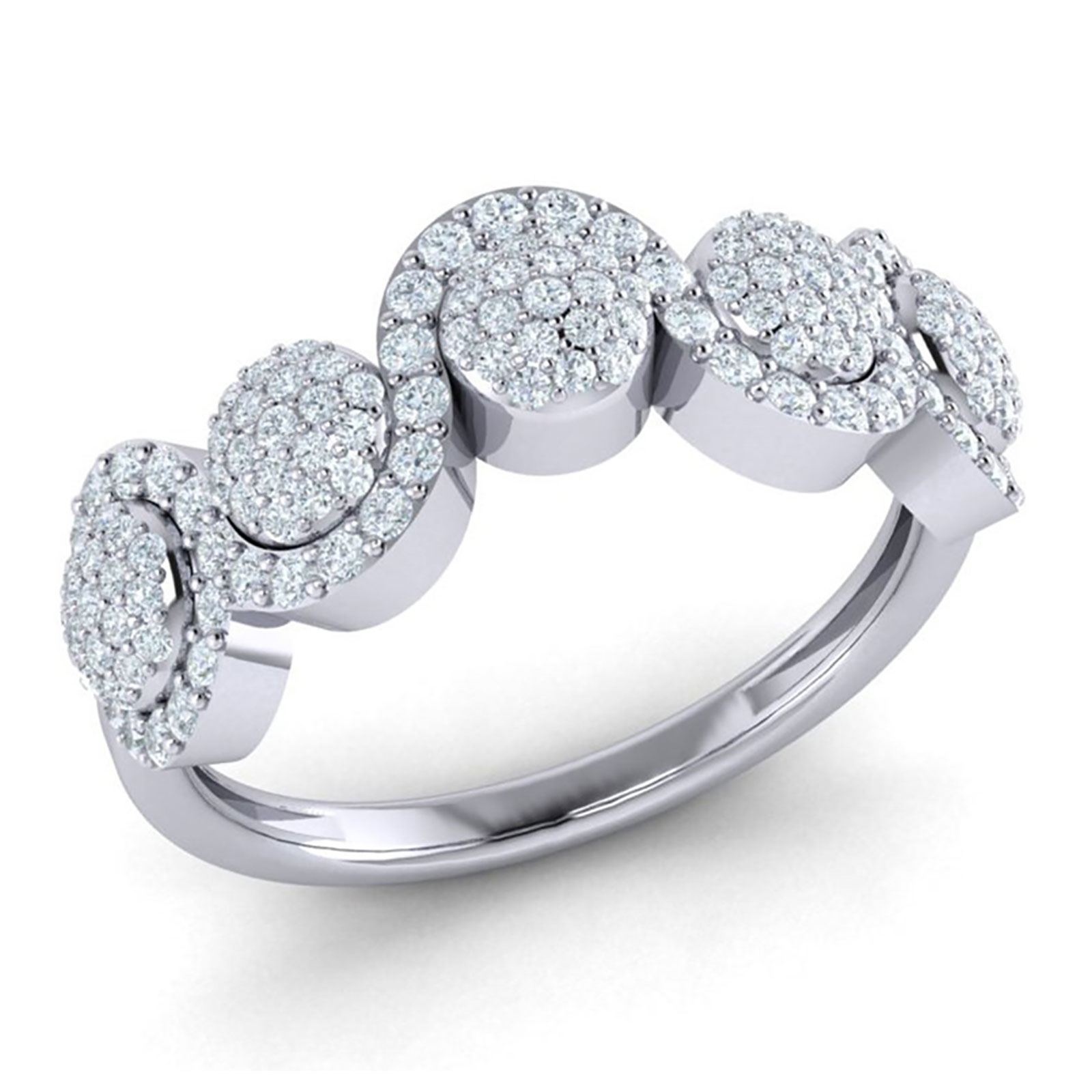 Jewelwesell 1ctw Round Cut Diamond Prong Women S Fancy Cluster