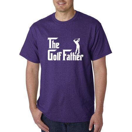 New Way 940 - Unisex T-Shirt The Golf Father Golfing Parody Medium Purple ()