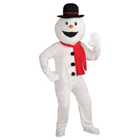 Snowman Mascot Adult Costume, Size: Men's - One - Make Your Own Snowman Costume