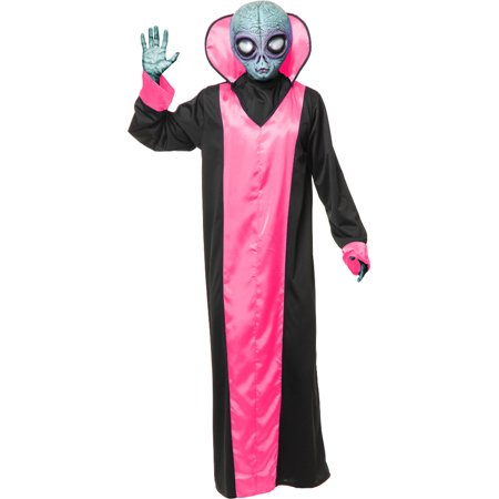 Adult's Mens Take Me To Your Leader Fuchsia Alien Robe