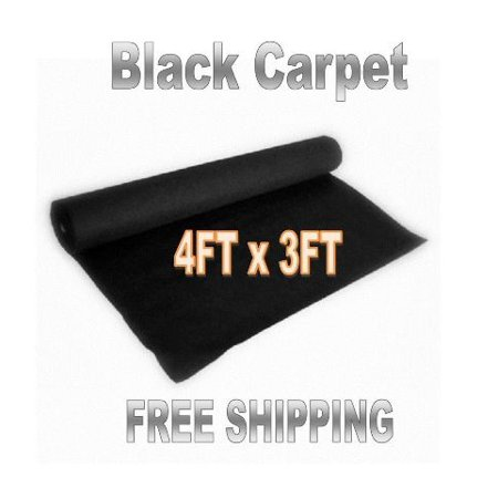 3ft x 4ft  BLACK DJ CAR SUB SPEAKER BOX CARPET TRUNK (Tour Trunk Liner)
