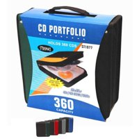 12 Pack - 360 Capacity Cd Dvd Album Wallet Holder Assorted ( 1 Item Only )