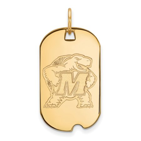 Solid 10k Yellow Gold Maryland Small Dog Tag - Halloween 10k Maryland