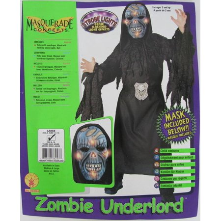 Rubie's Boys 'Zombie Underlord' Halloween Costume, Black/Blue, L](Zombie Halloween)