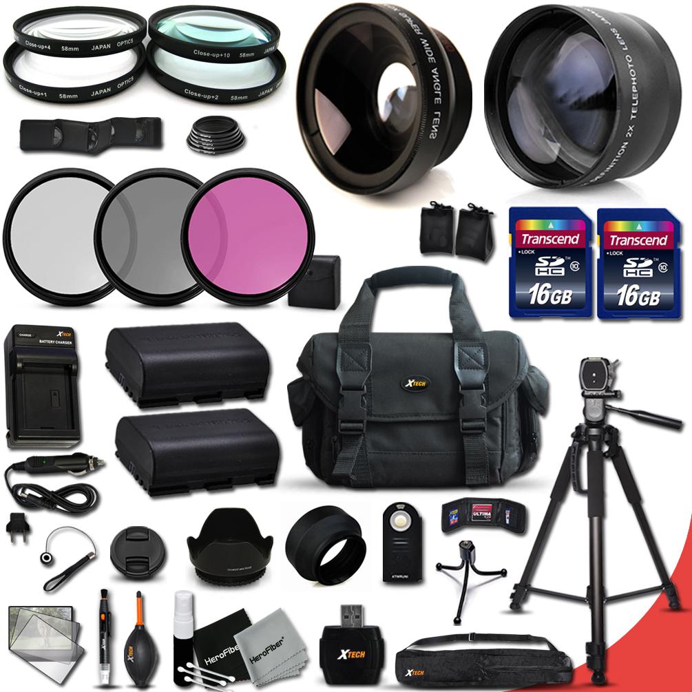 Ultimate 32 Piece Accessory Kit for Canon EOS 70D 60D 7D ...