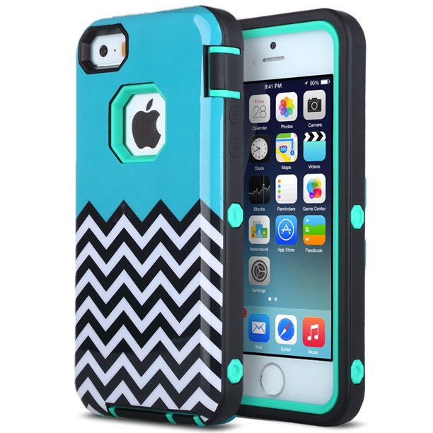 Apple Iphone Se Case Iphone 5 5s Case Ulak 3 In 1 Design Fashion Wave Pattern
