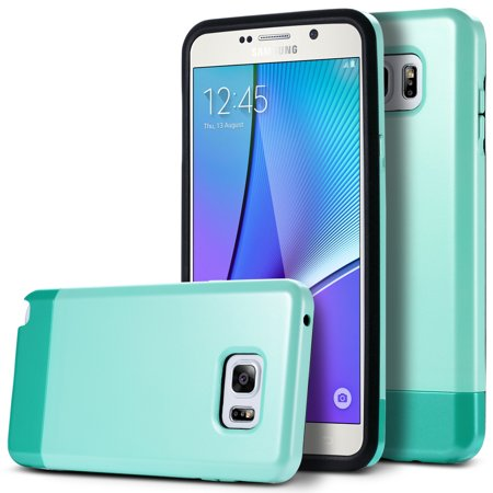 Galaxy Note 5 Case, ULAK Slim Hybrid Slider Style Hard Protective Case Vibrant Trendy Color Cover Soft TPU Interior for Samsung Galaxy Note