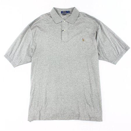 Polo Ralph Lauren New Gray Mens Size Big 3X Classic Fit Polo Shirt