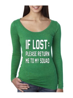 5ac45f479 Product Image New Way 393 - Women's Long Sleeve T-Shirt If Lost Please  Return Me To