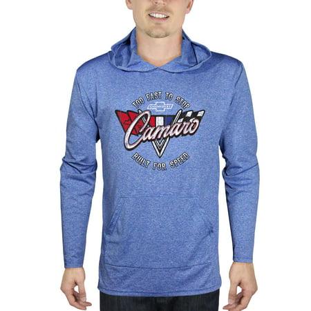 Screen Fleece Sweatshirts - Men's Chevrolet Camaro Long Sleeve Graphic Hoodie Tee, up to Size 2XL