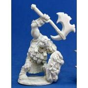 Reaper Miniatures Kavorgh, Orc Warboss #77064 Bones Unpainted Plastic Figure