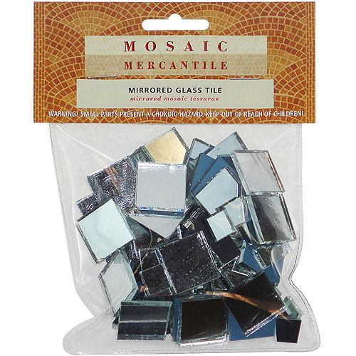 Mirrored Glass Tile, 100-Pack, Square Assorted
