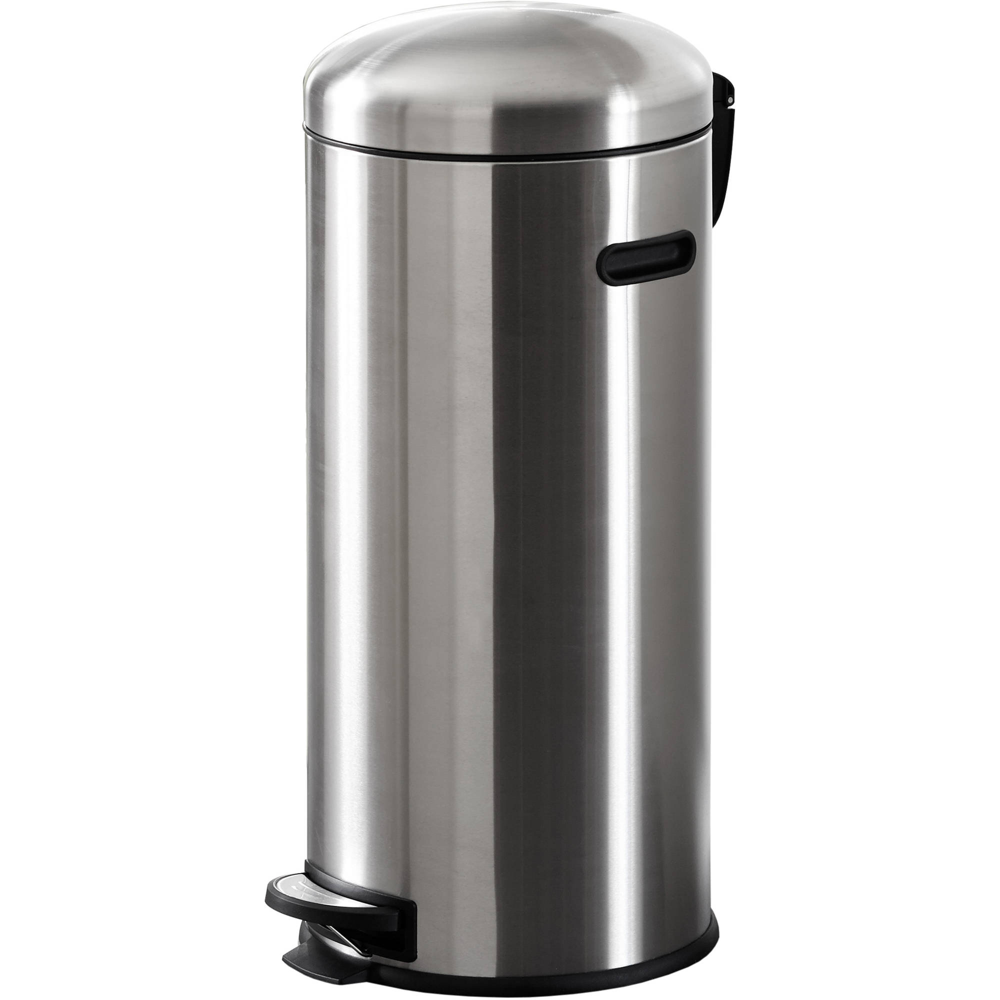 better homes and gardens 30l retro trash can, stainless steel