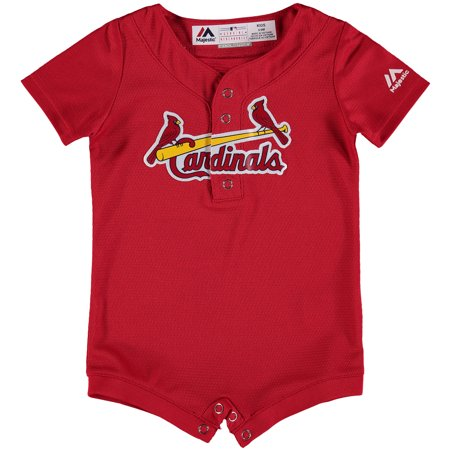 St. Louis Cardinals Majestic Newborn & Infant Fashion Cool Base Romper Jersey - Scarlet (Bass Romper)