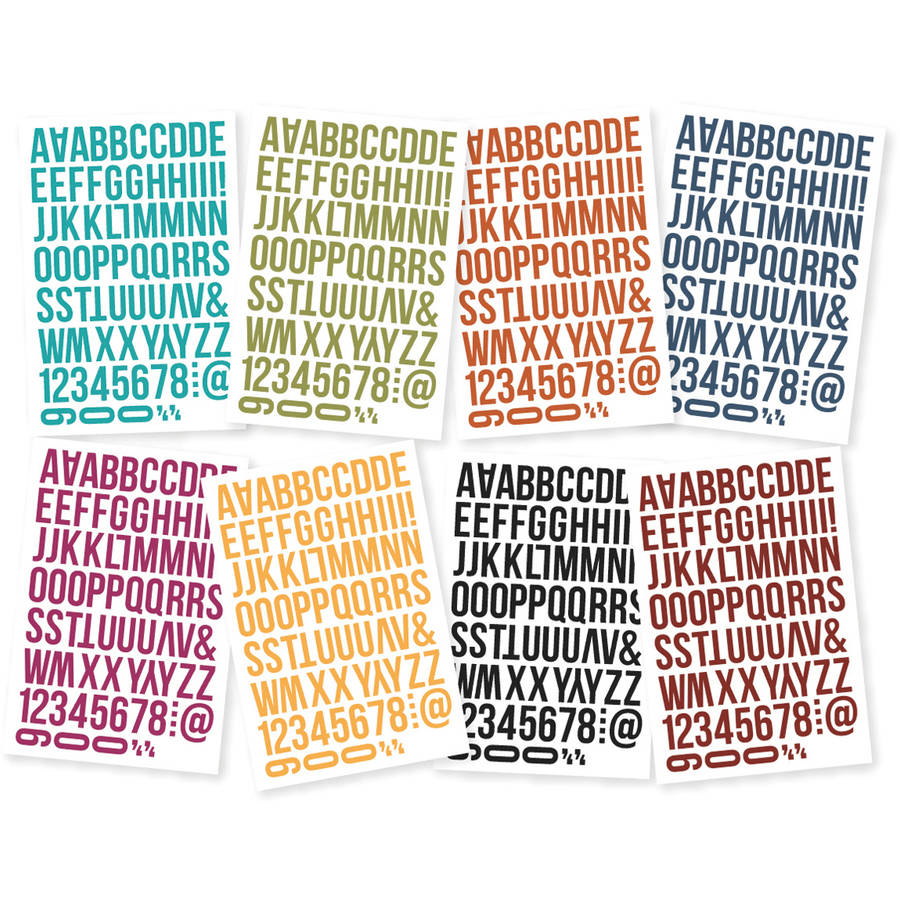 "Sn@p! Bolds Color Vibe Stickers, 4"" x 6"" Sheets, 8pk, Letters"