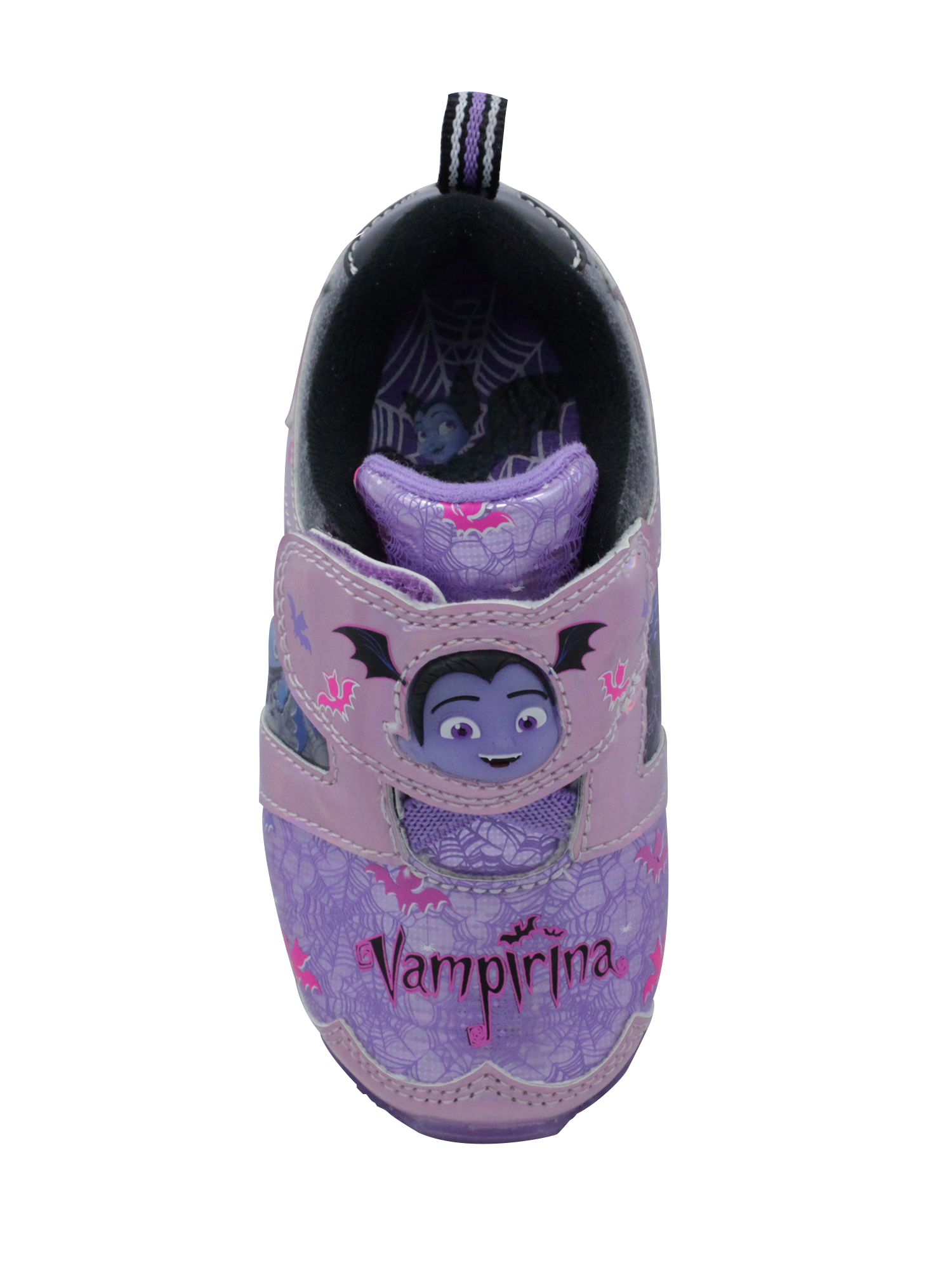 ***NEW DISNEY VAMPIRINA PURPLE LIGHT UP SHOES ATHLETIC SNEAKERS TODDLER GIRLS