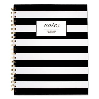 Cambridge Black & White Striped Hardcover Notebook