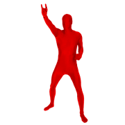 SKINZ ADULT MORPH BODYSUITS SPANDEX BLEND - Adult Red Small