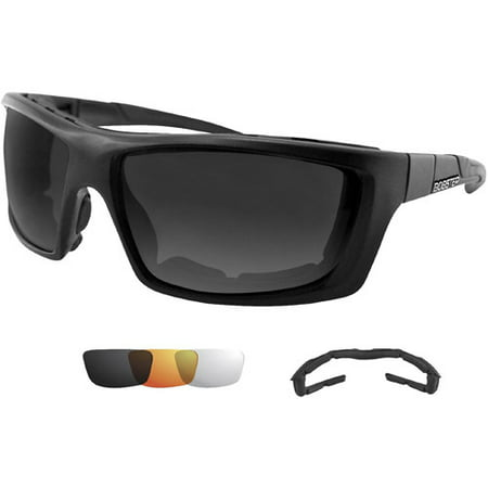 Bobster Trident Convertible Polarized Smoked Clear and Amber Lens (Amber Lens Goggles)