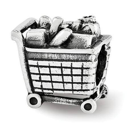 Mia Diamonds 925 Sterling Silver Reflections Shopping Cart Bead Mia Diamonds 925 Sterling Silver Reflections Shopping Cart Bead