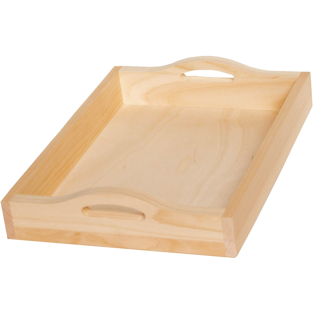 Home Decor and Craft Projects 11 x 15 Walnut Hollow Unfinished Wood Serving Tray for Weddings