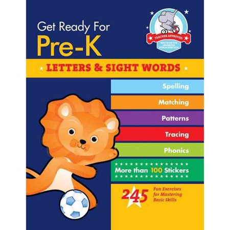 Get Ready For Pre K  Letters   Sight Words   245 Fun Exercises For Mastering Basic Skills