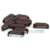 Cabinet Door Cupboard Plastic Shell Metal Plate Magnetic Latch Catch 10PCS