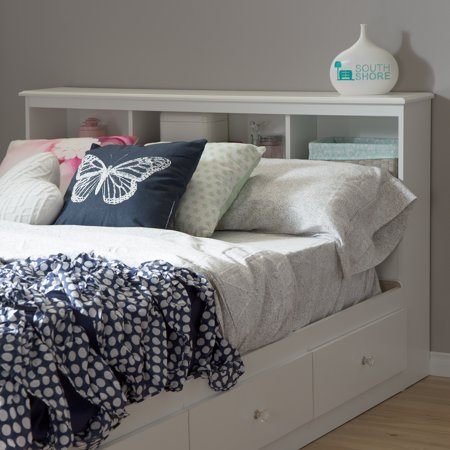 Deluxe Full Bedroom Package - South Shore Crystal Full Bookcase Headboard (54