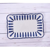 Mainstays Outdoor Melamine Country Classic Striped Serve Tray