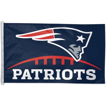 NFL New England Patriots Team Flag, 3' x 5', Style 2 - New England Patriots Decorations