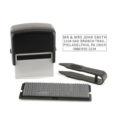 Stamp Ever Self-inking Address Stamp Kit - 4 Lines