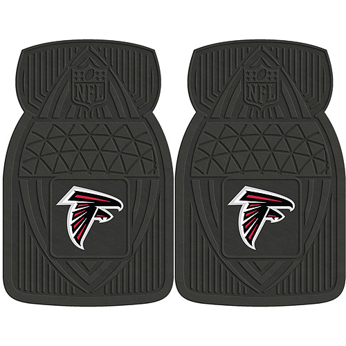 NFL 2-Piece Heavy-Duty Vinyl Car Mat Set, Atlanta Falcons
