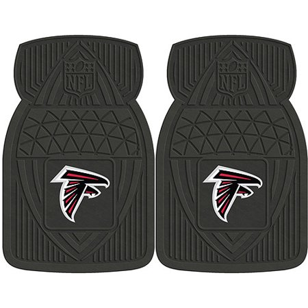 NFL 2-Piece Heavy-Duty Vinyl Car Mat Set, Atlanta Falcons - SPORTS LICENSING (Atlanta Falcons Nfl Car Mats)