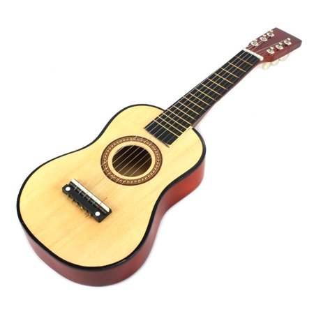 Velocity Toys Acoustic Classic Rock N Roll 6 Stringed Toy Guitar Musical Instrument W  Guitar Pick  Extra Guitar String  Natural