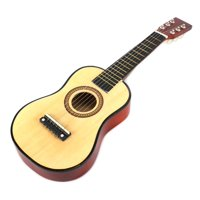 Velocity Toys Acoustic Classic Rock 'N' Roll 6 Stringed Toy Guitar Musical Instrument w/ Guitar Pick, Extra Guitar String (Natural)