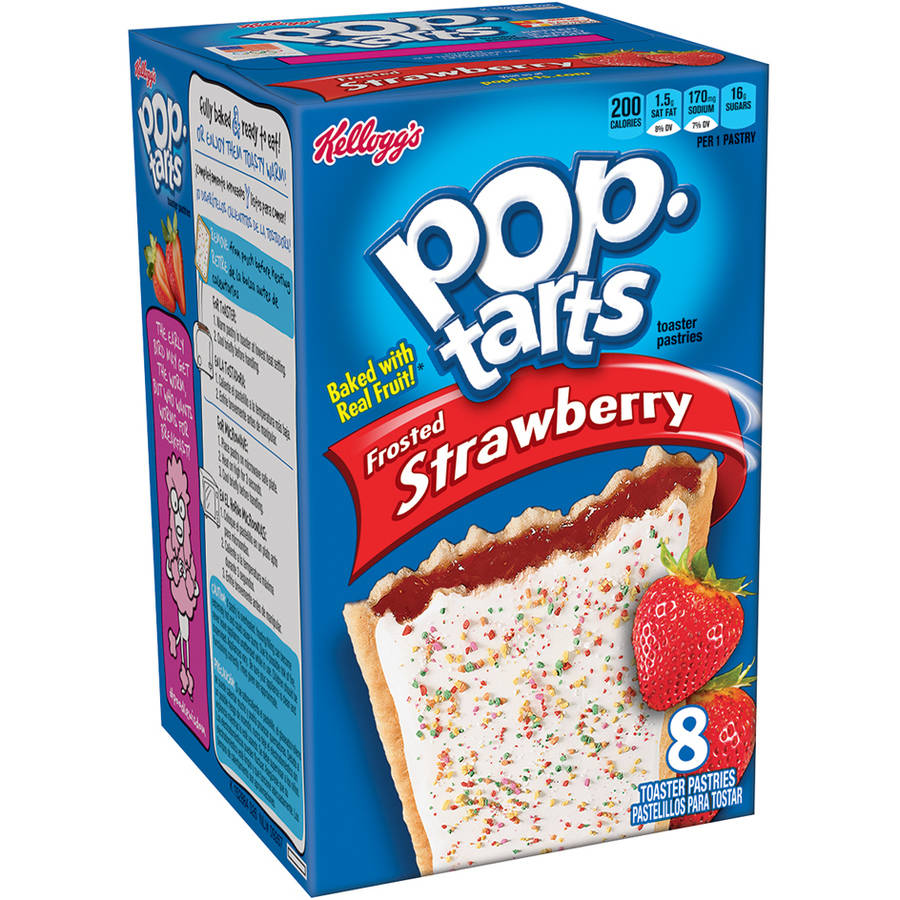 Kellogg's Pop-Tarts Frosted Strawberry Toaster Pastries, 8 count