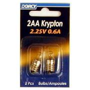 4PK-2 Pack 2AA Krp222 Krypton Bulb Screw Base 2.25V 0.6A