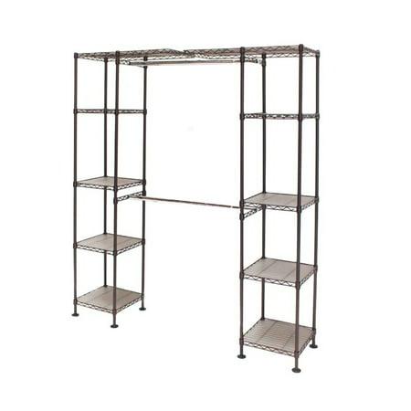 "Expandable Closet Organizer System, Resin Slat 74""-202""W by Seville Classics"