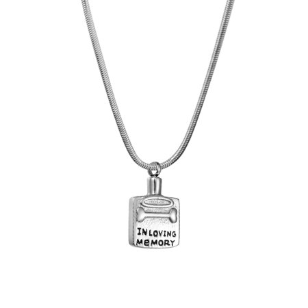 Anavia Dog My Angle Cremation Jewelry Memorial Necklace Ash Urn Keepsake Silver With Gift Box