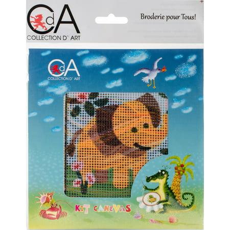 Elephant Needlepoint (Collection D'art Stamped Needlepoint Kit)