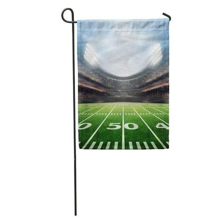 LADDKE Green Football Stadium Field American Grass Goal Post Soccer Game Garden Flag Decorative Flag House Banner 12x18 inch](Football Goal Post Flags)