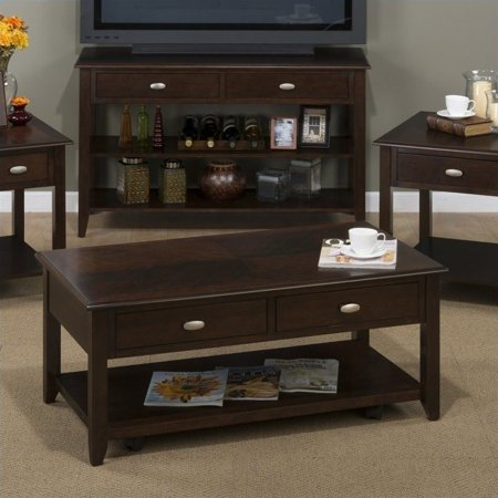 Jofran 1030 Series Castered Cocktail Table in Merlot